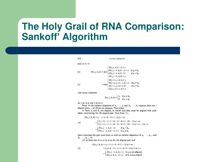 The Holy Grail of RNA Comparison:
