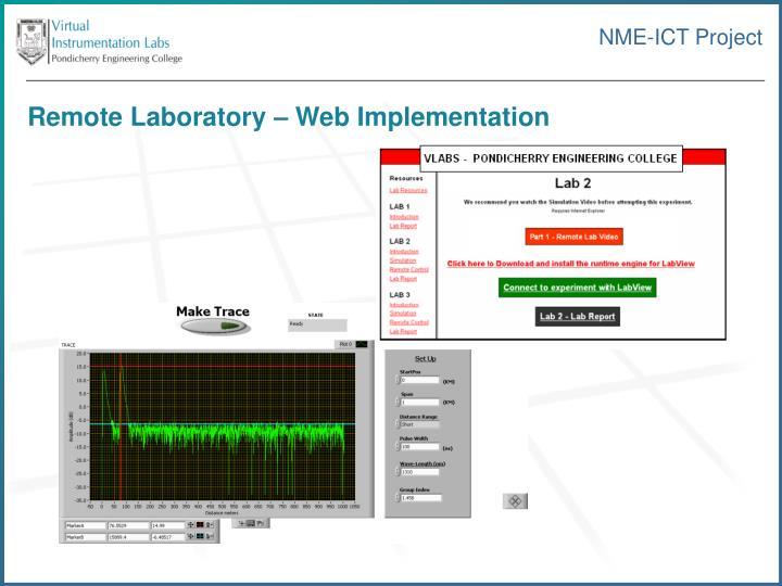 Remote Laboratory – Web Implementation