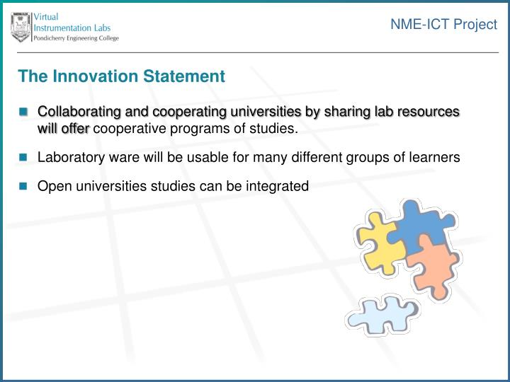 The Innovation Statement