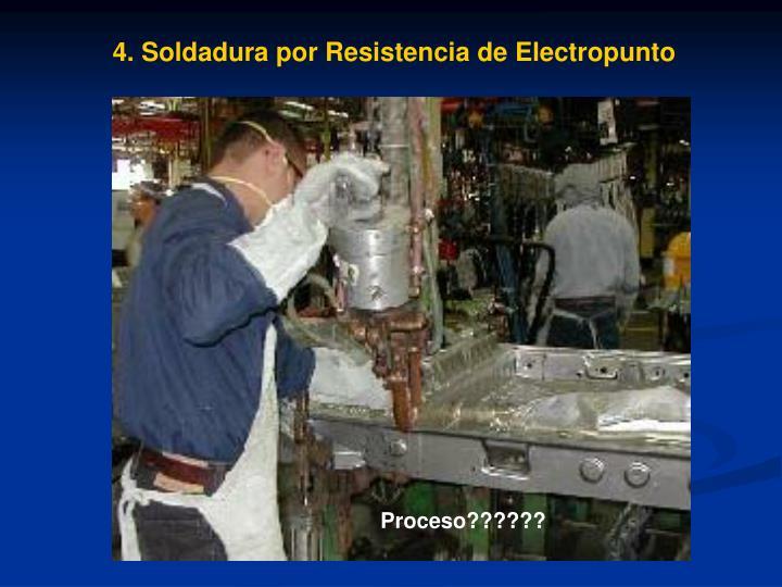 4. Soldadura por Resistencia de Electropunto