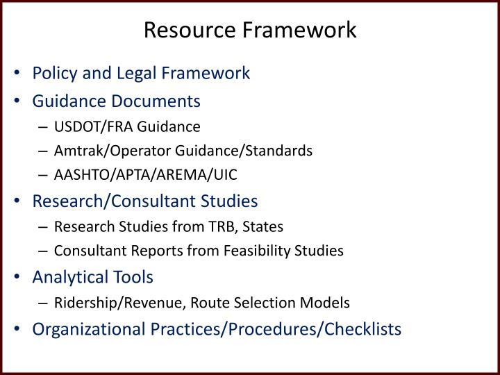 Resource Framework