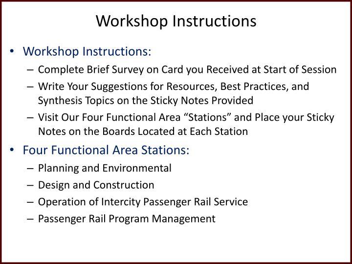 Workshop Instructions