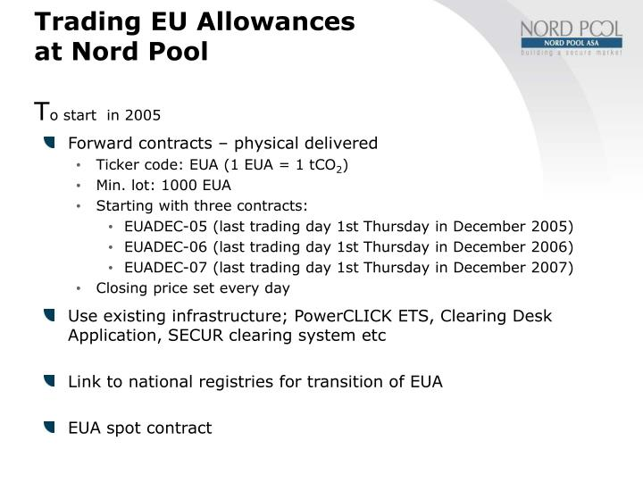 Trading EU Allowances