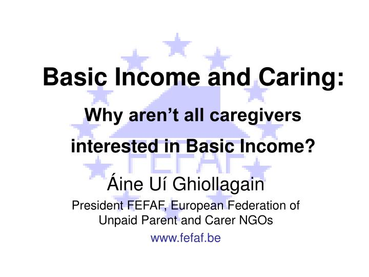 basic income and caring why aren t all caregivers interested in basic income n.