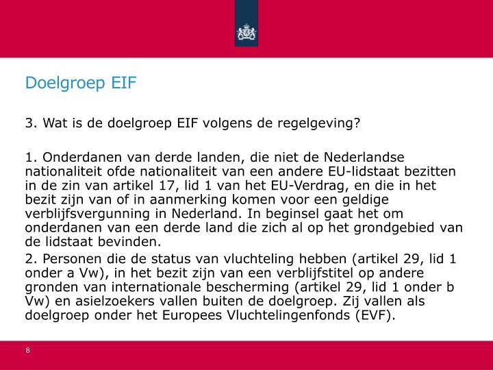 Doelgroep EIF