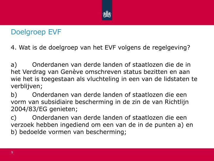 Doelgroep EVF