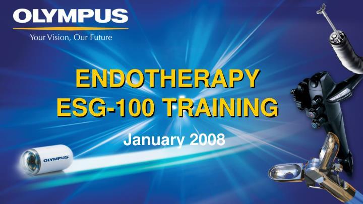 endotherapy esg 100 training n.