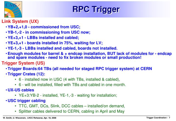 RPC Trigger