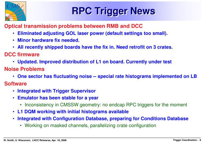 RPC Trigger News