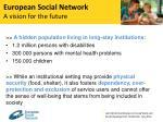 european social network a vision for the future1