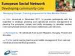 european social network developing community care1