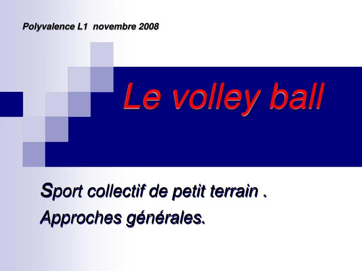Le volley ball