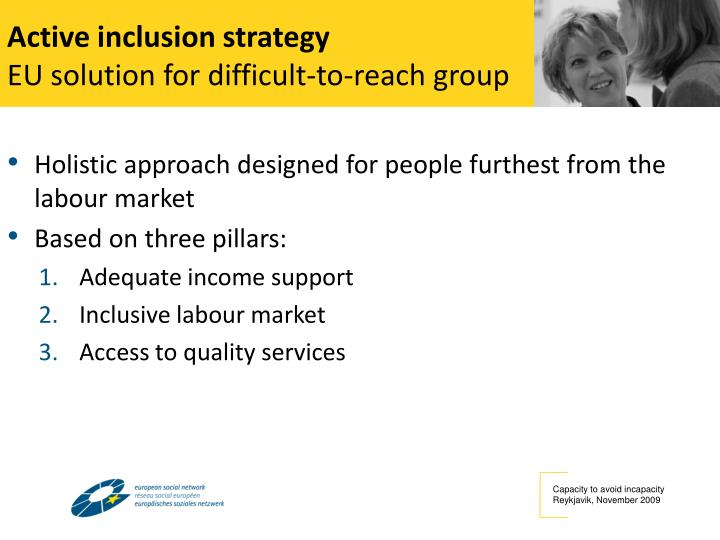 Active inclusion strategy
