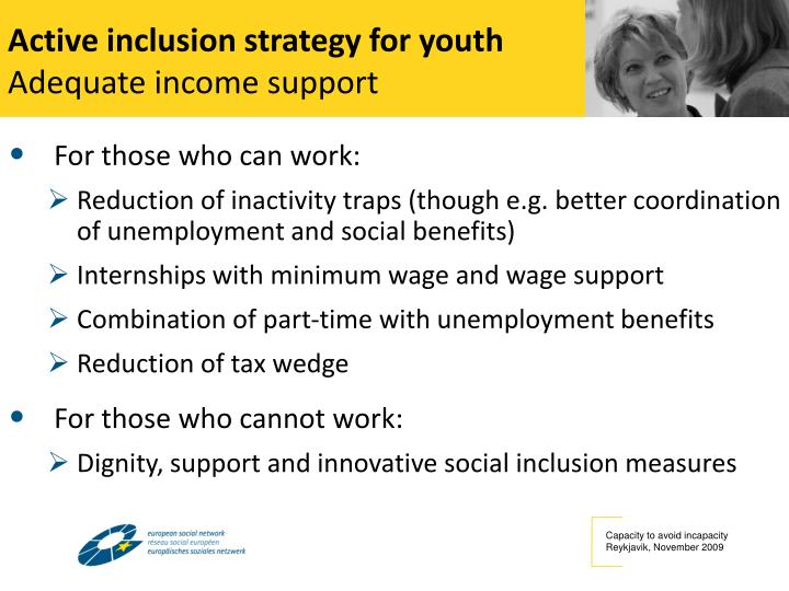 Active inclusion strategy for youth