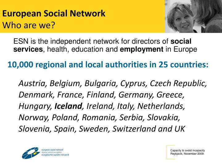 European social network who are we