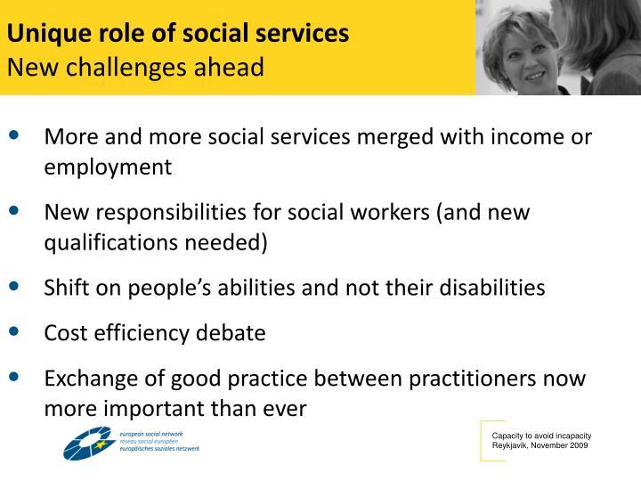 Unique role of social services