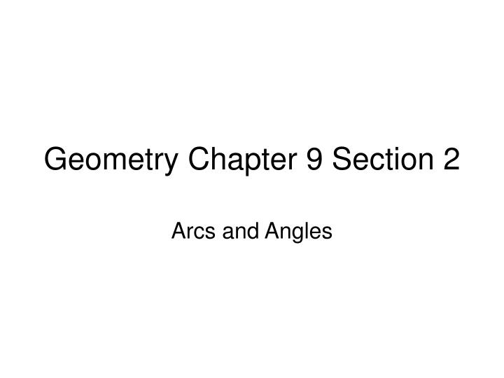 Geometry chapter 9 section 2