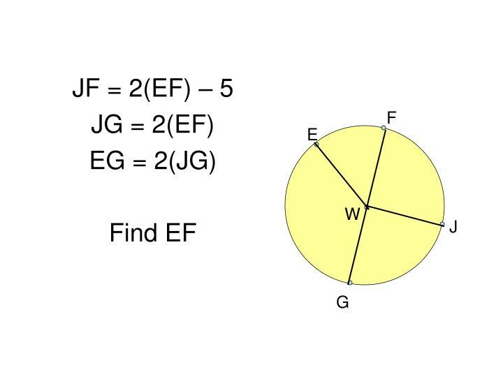 JF = 2(EF) – 5
