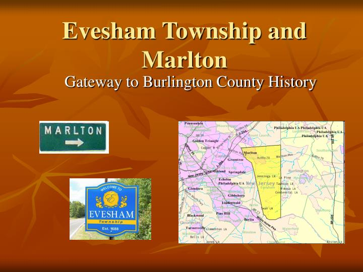 evesham township and marlton n.