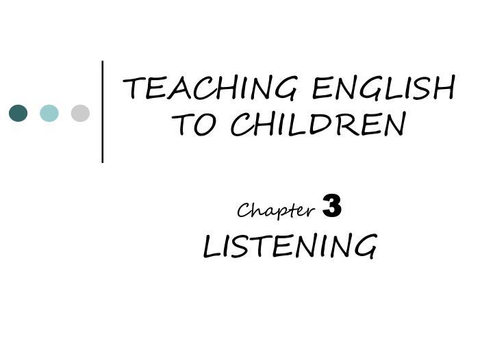teaching english to children n.