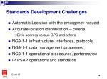 standards development challenges
