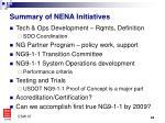 summary of nena initiatives