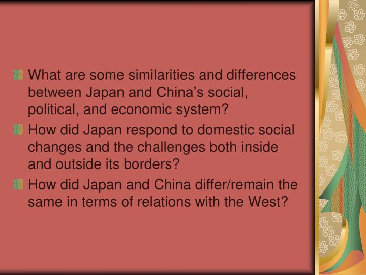 some similarities between china and japan