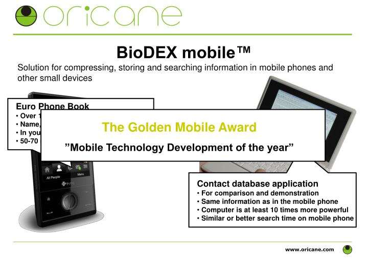 BioDEX mobile™