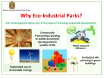 why eco industrial parks