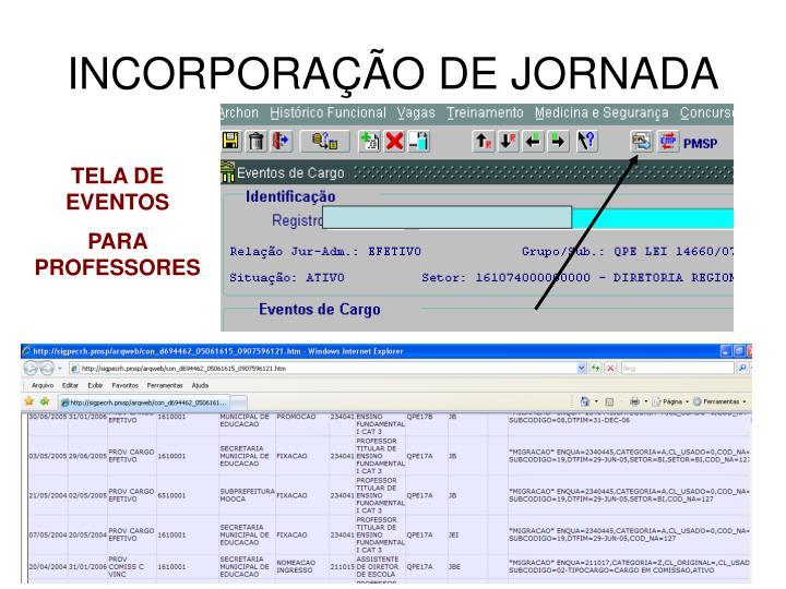 INCORPORAÇÃO DE JORNADA