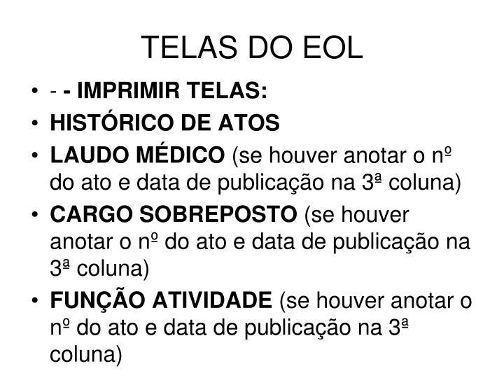 TELAS DO EOL