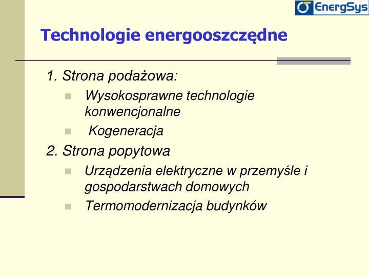 Technologie energooszcz dne