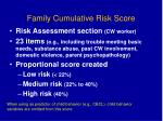 family cumulative risk score