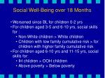 social well being over 18 months