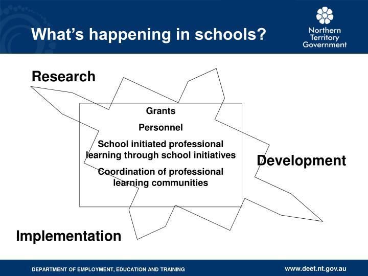 What's happening in schools?