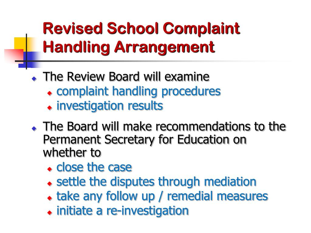 PPT - Handling of School-related Complaints PowerPoint