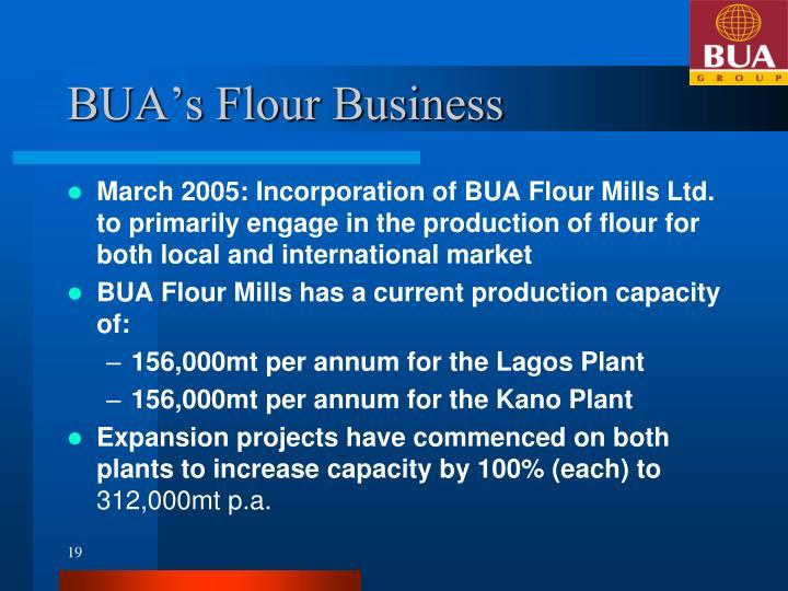 BUA's Flour Business