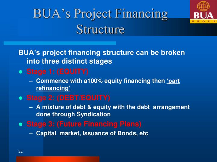 BUA's Project Financing Structure