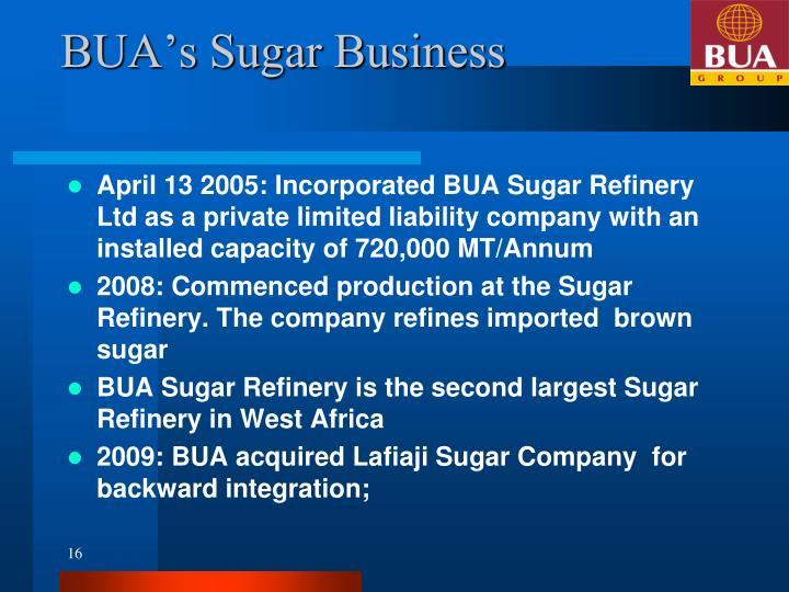 BUA's Sugar Business