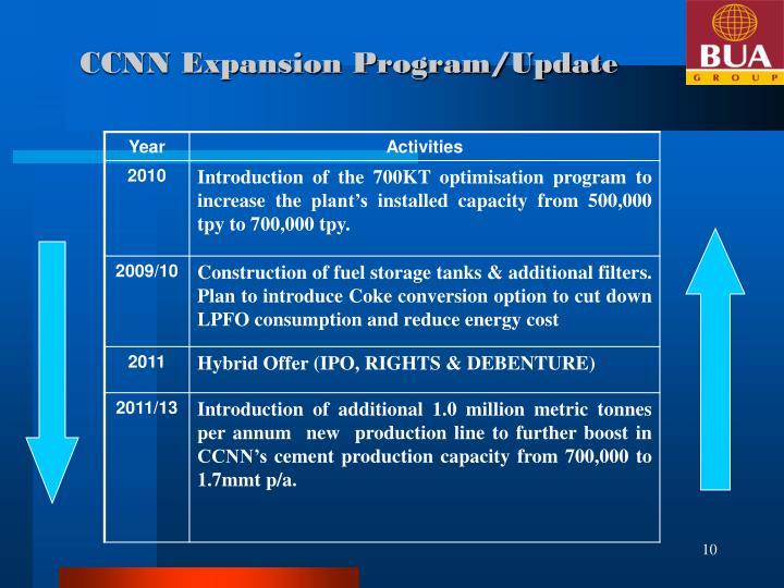 CCNN Expansion Program/Update