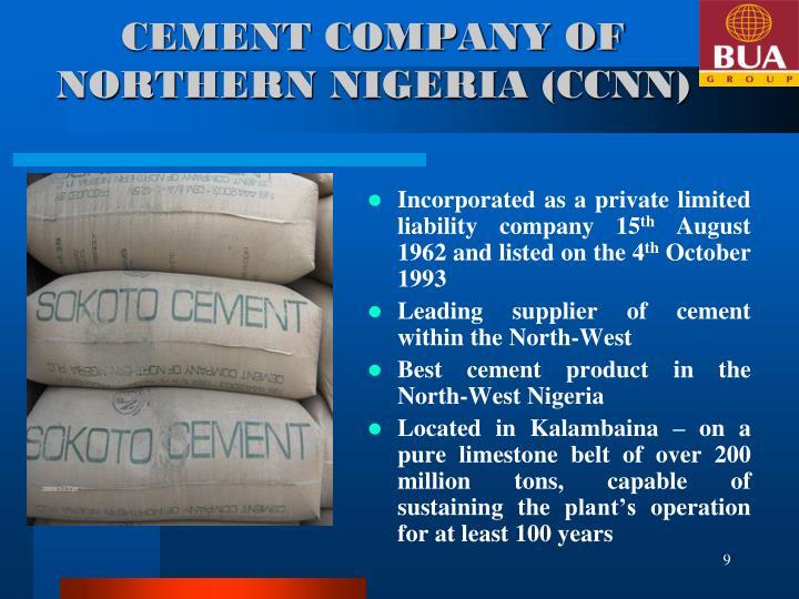 CEMENT COMPANY OF NORTHERN NIGERIA (CCNN)
