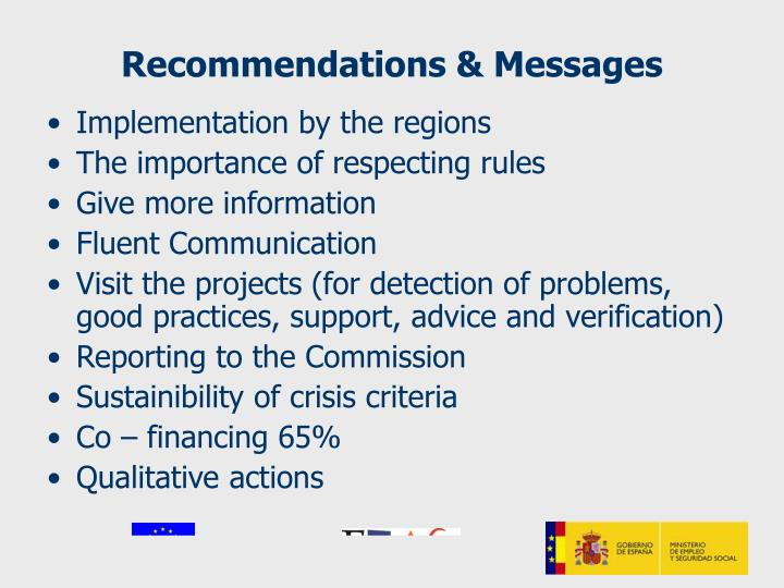 Recommendations & Messages
