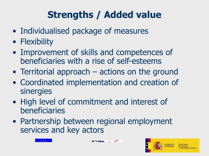 Strengths / Added value