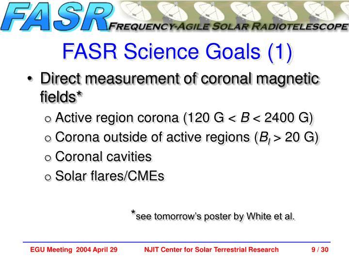 FASR Science Goals (1)