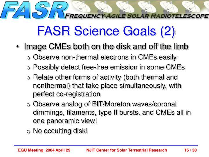 FASR Science Goals (2)