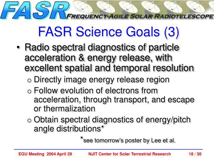 FASR Science Goals (3)
