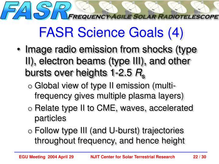 FASR Science Goals (4)