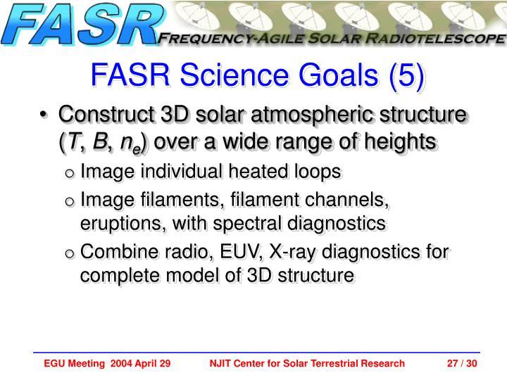 FASR Science Goals (5)