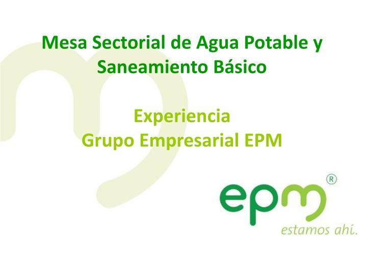 Mesa Sectorial de Agua Potable y Saneamiento Básico