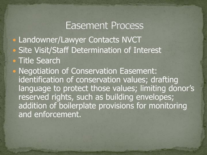 Easement Process